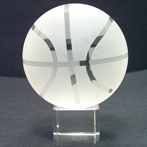 G1-531 - Crystal Basketball & Stand (8 x 10 cm)-0