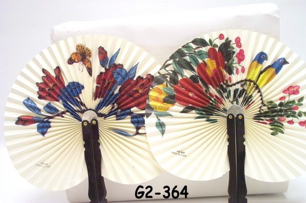 """G2-364 - Chinese Folding Fans (3½""""L) 24/DL-0"""