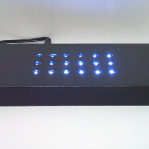 G3-913 - Light up base for custom crystal - frost white light - Black-0