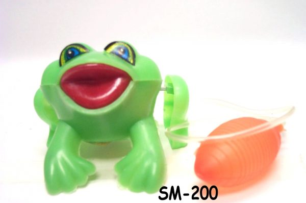 SM-200 - Plastic Jumping Frog W/Squeezer-0