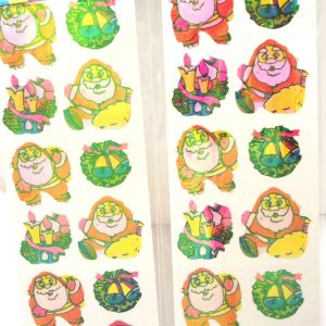 SM-261 - Rainbow Metallic Xmas Stickers 48/DL-0