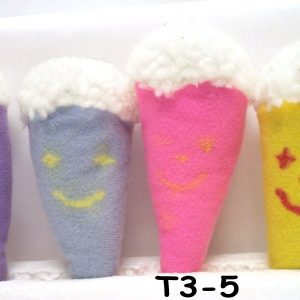 T3-5 - Plush Ice Cream Cone W/Smiling Face-0