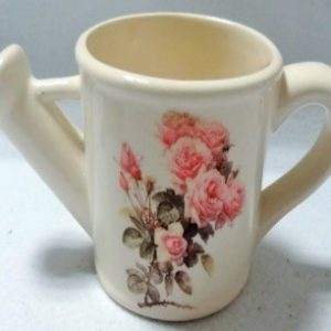 G1-621 - Lge. Watering Can Flower Pot (Roses)-0