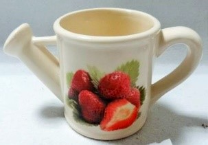 """G1-629 - 3.5 """" Watering Can Flower Pot (Strawberries)-0"""