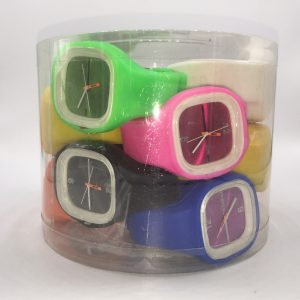 F1-926 - Square Silicone Watch (12/dl.)-0