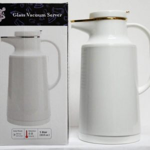K1-135 - 1 L. White Carafe w/ Gold Trim-0