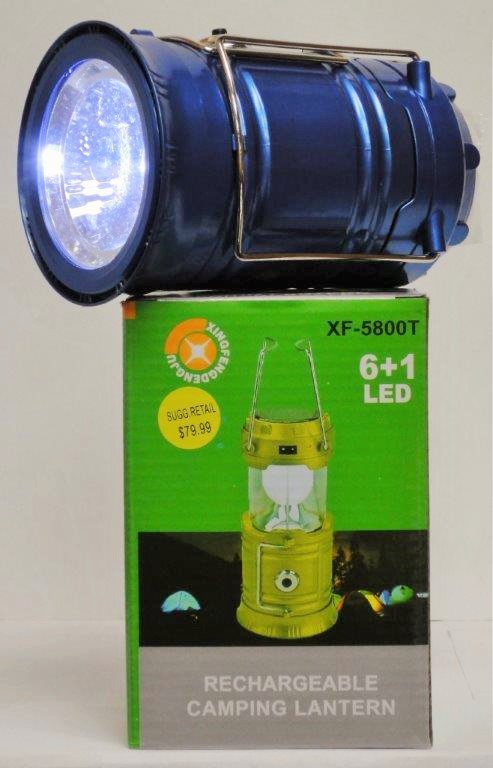 H1-210 - Solar/Rechargeable LED Lantern/Flashlight-0