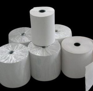 """ZMS-34 - 2.25""""x60' 55g Black Solid Core Thermal Paper (50/ per Case)-0"""