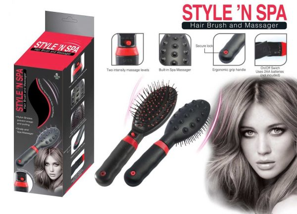 F1-506 - Style'n Spa Hair Brush Massager-0
