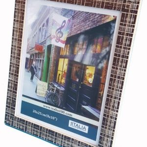 "P3-229 - 4"" X 6"" Brown Texture Frame-0"