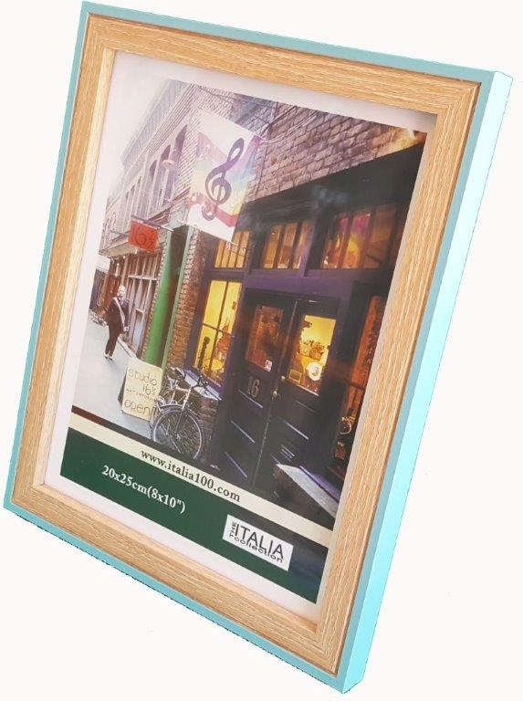 """P3-232 - 4"""" X 6"""" Two Tone Turquoise Frame-0"""