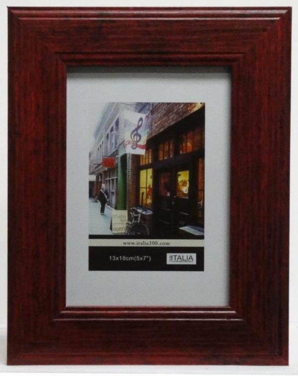 """P3-410 - 5"""" X 7"""" Red Wood Frame-0"""